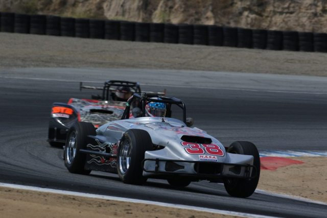 At 80 years old, Ralph Bush claimed the last step on the podium in Thunder Roadster.