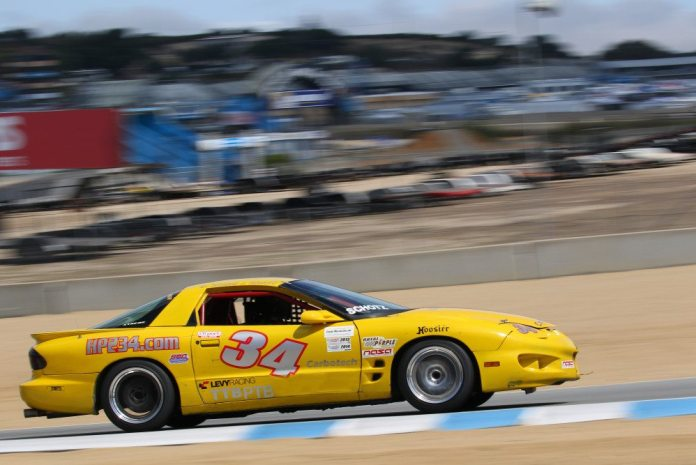 Dave Schotz drove his silver No. 75 Chevrolet Corvette to TTC and PTC Championship wins. The Corvette had low rpm, but big torque and was able to power up the big hills at Mazda Raceway Laguna Seca for a double victory.