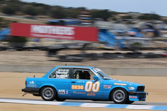 Steven Stepanian was dealing with a broken shifter late in the race to take third in Spec E30.