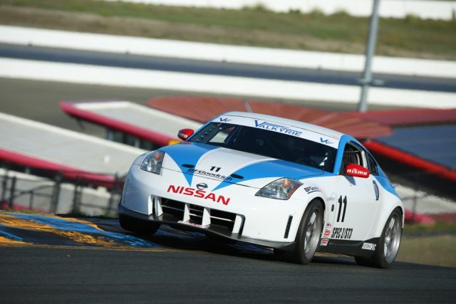 Brian Lock took his 350Z from a fifth-place start to a third-place finish.