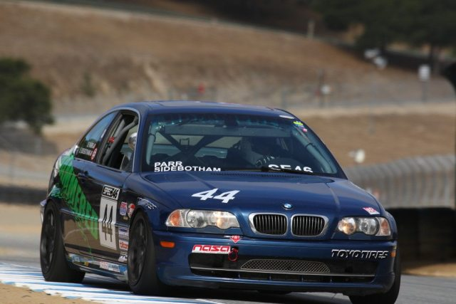 Eric Sidebotham finished in third place in Spec E46 by just 1.1 seconds.