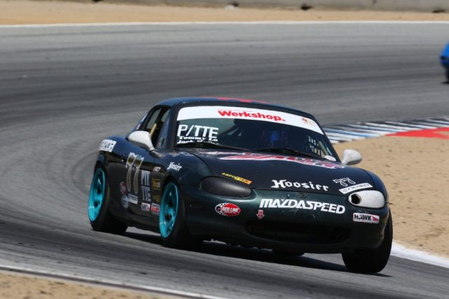 Fresh from competing at the Mazda Race of NASA Champions, Tommy Lo took second in PTE.