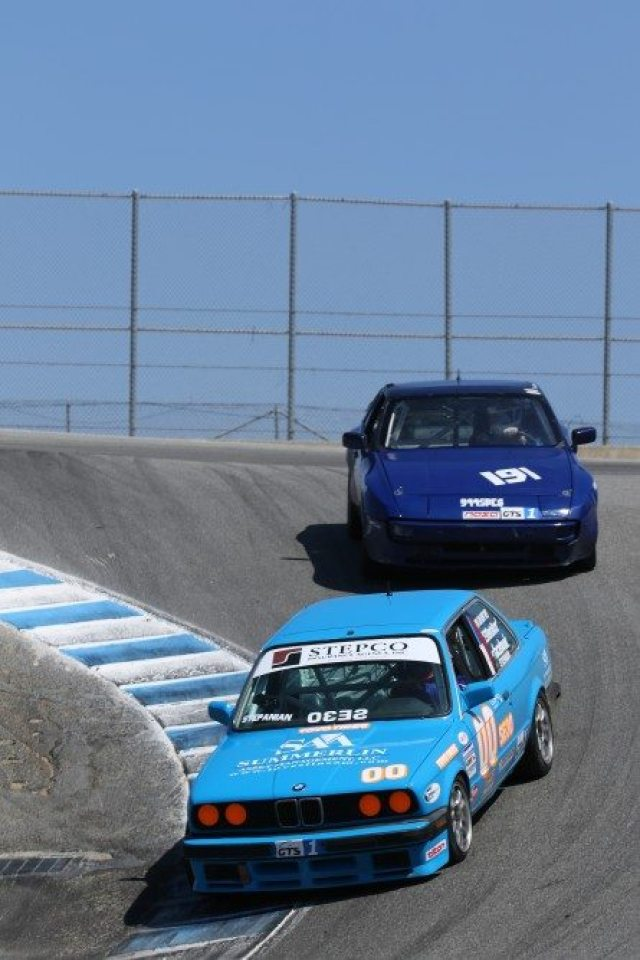 No. 00 Steve Stepanian battled early on with Thomas Atteberry in his Porsche 944, but a mistake cost Atteberry a position, leaving Stepanian to bring home second in GTS1.