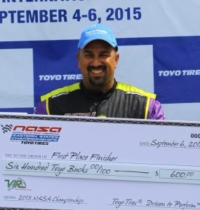 Dan Piña barely made it to the 2015 Eastern States Championships at VIR, but after the event, he was crowned 944 Spec Champion.