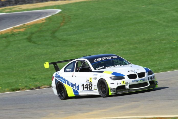 Josh Smith drove his V8-powered BMW M3 to victory on Saturday and Sunday in GTS3.