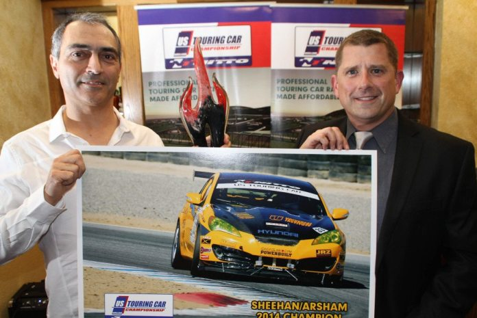The team of Ali Arsham (left) and Gary Sheehan (right) won the 2014 Touring class championship for 2014.