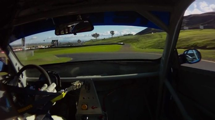 This is a long, fast corner for either car type and it leads onto an uphill straight. It is very important to get on the throttle and be able to keep adding more throttle throughout the corner.