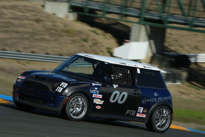 In addition to his Championship in PTB, Ricky Johnson piloted his Mini to first place in TTB with a 1:51.409.