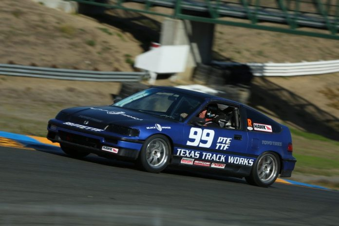 Team Black Armor Racing bested everyone in TTF in its Honda CRX with a lap time of 1:56.638.