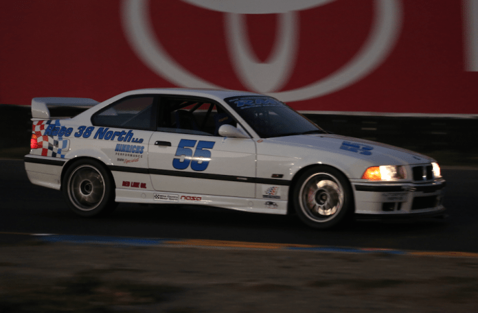The white number 55 BMW of Paul Blickman earned the E1 win at Sonoma.