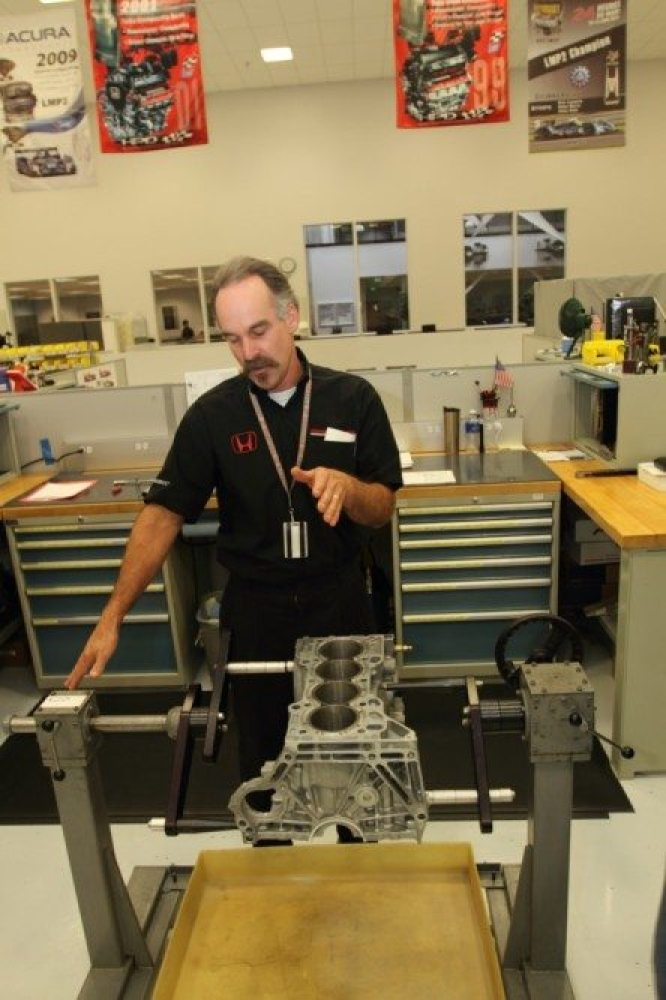 Mike Fitzwater assembles a K24 engine for use in a dirt sprint car. When complete, it will produce 370 horsepower. A production-based engine, the K24 can be used for lots of other applications.