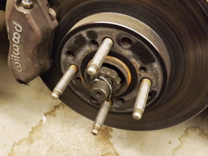 If your hub doesn't have bullnose wheel studs, don't bother with this process. You will need to replace your current studs with high-grade bullnose wheel studs, which allow you to use an impact gun to torque the lug nuts. ARP makes these in various sizes and thread types.