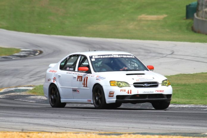 Robert Rutzky started from third and finished third at Road Atlanta in PTB.