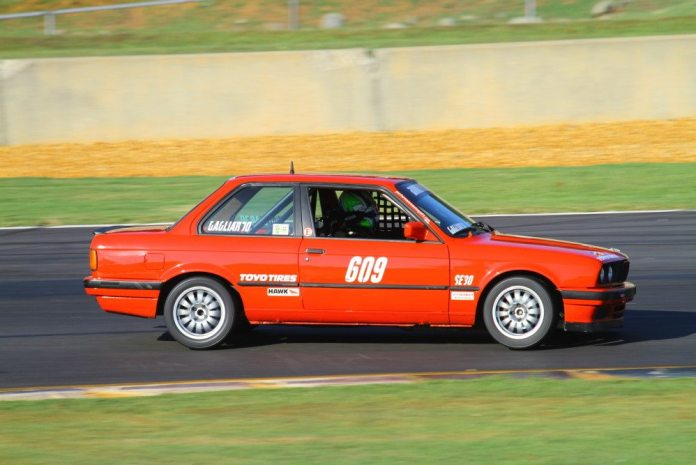 Robert Gagliardo started from sixth and wound up second in Spec E30.