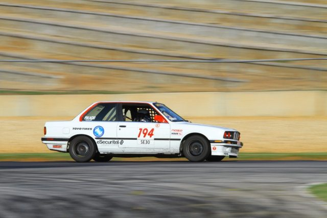 Eric Palacio started from pole, but finished off the podium till post-race DQs moved him into third place in Spec E30.