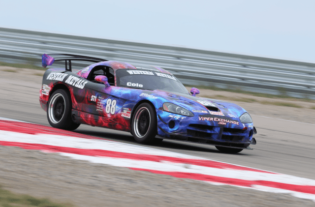 Pratt Cole earned third place in ST1 in his Dodge Viper.