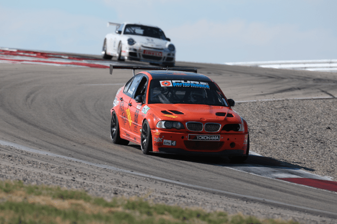 Daniel Wennerberg diced with Scott Bove, but eventually came out ahead to take second in GTS4.