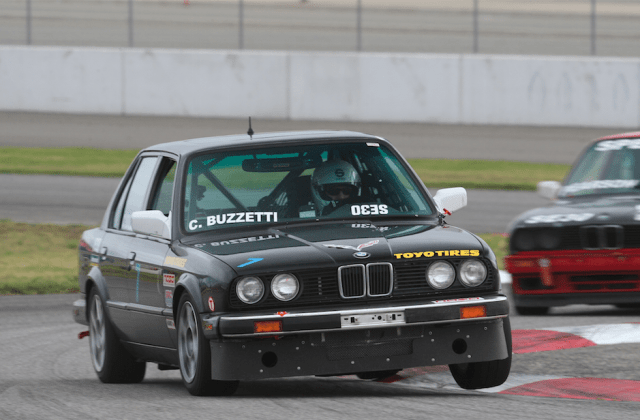 New to Spec E30, Charlie Buzzetti set the fastest qualifying times at Auto Club Speedway, but after post race inspections revealed an illegal ECU chip, Buzzetti requested to be DQ'd from the weekend's races.