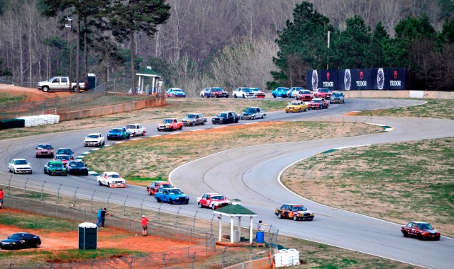 """A national record for a regional race, 35 Spec E30s took the green at NASA Southeast's """"Race for the Pi"""" at Road Atlanta in March, an event that combined NASA Mid-Atlantic and NASA Florida."""