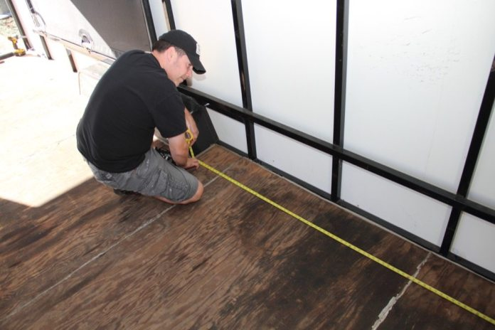 Having a friend to help you with measurements is a huge plus. Measure twice so you can cut once. Check and recheck your work before cutting. The matting is too expensive to waste.