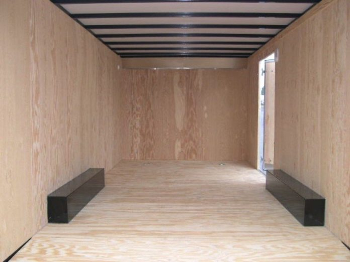When you get a great deal on an enclosed trailer, you will immediately know why when you open the ramp and see a lot of nothing. The good news is there is room for a car. The bad news is there isn't any infrastructure for anything else.