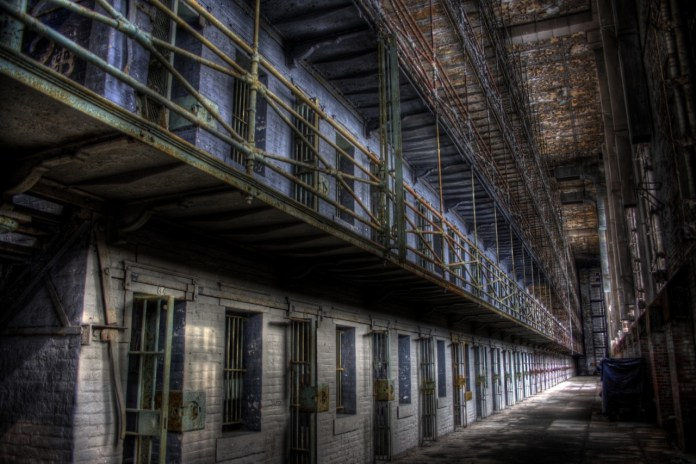 """This cell block was used extensively in the movie """"The Shawshank Redemption."""""""