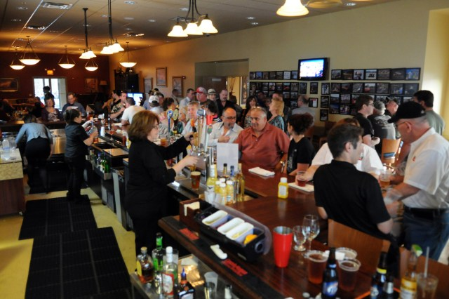 The Finish Line pub located in the main clubhouses has a full menu and bar.