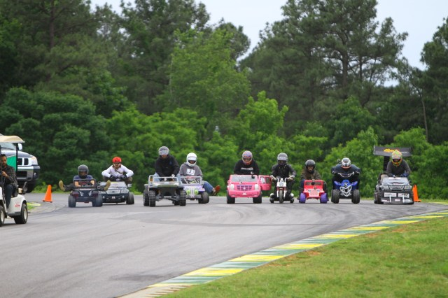 Friday night kicked off with Power Wheels racing on the VIR track.