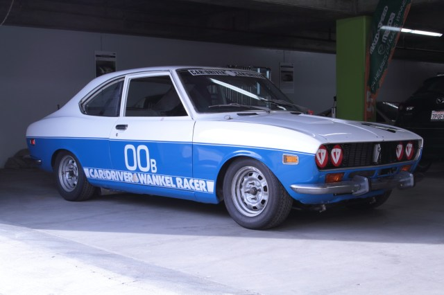 The 1973 RX-2 that gave Mazda its first roadracing win outside Japan.