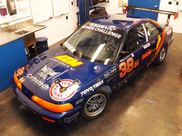 Done! Built and ready for the NASA Western States Championships in October at Buttonwillow Raceway. We chose the blue and orange livery because it would be easy for spotters to see the car on track.