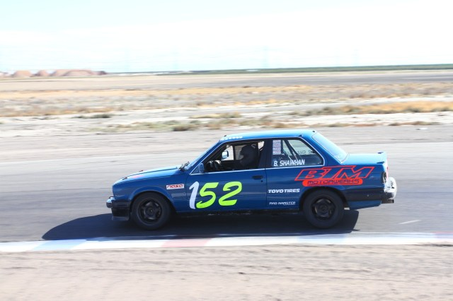 Michael Shawhan passed Michael Mihld late in the race, but it was too late to take on the leader. He finished second in Spec E30.