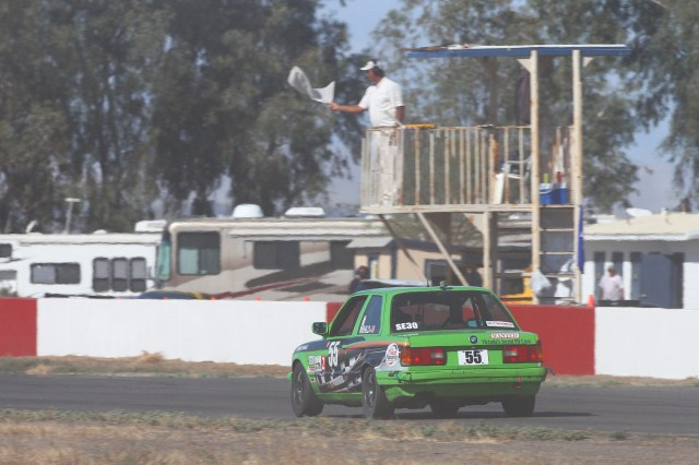 SoCal racer Michael Mihld finished third in Spec E30 after a race-long battle with Michael Shawhan.