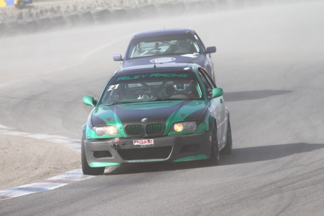 Dee Jay Riley had to replace an engine to be able to race, and he took home third place in Spec E46 for his efforts.