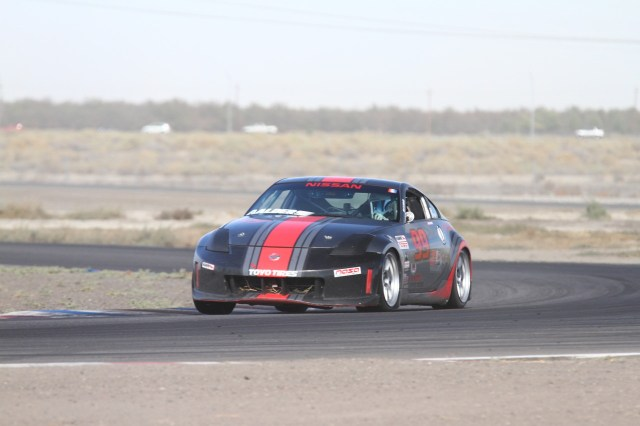 It took a couple of laps for Chad Aalders' tires to come in, but when they did, he was able to finish in second in Spec Z.