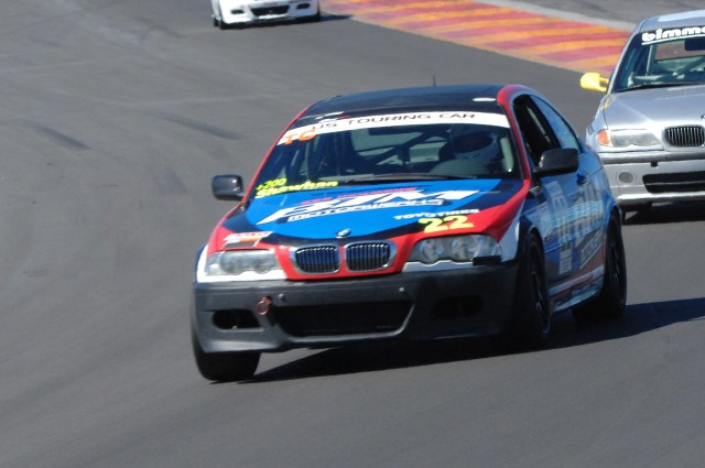 Michael Shawhan went home to California with a second-place finish in Spec E46.