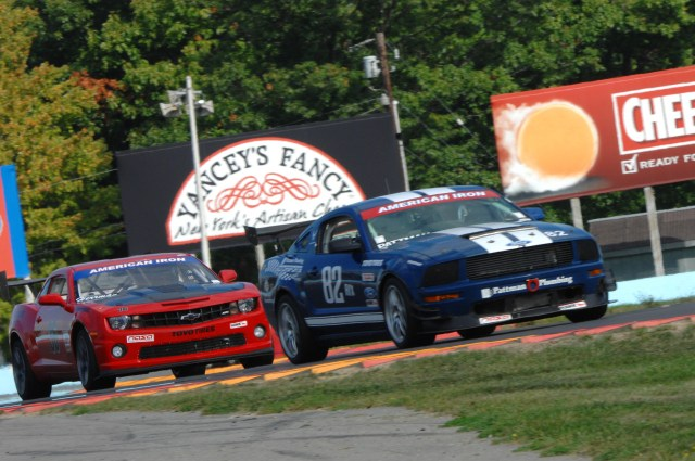 No. 82 John Pattman's engine was ailing for the AIX Championship race on Sunday. One of three entries in AIX, Pattman scored a third-place finish.