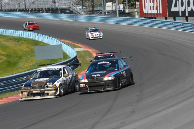 This is how close the racing was. No. 55 Zach Arnold had to get around Matthew Wasilewski in a late-race dash to take second place in GTS2. Fourth place finisher Michael Sousa was right in the mix, too.