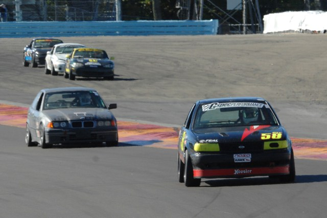 Brett Westcott piloted his Nissan Sentra SE-R to a second-place finish in PTE.