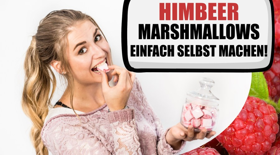 Fruchtige Himbeer Marshmallows