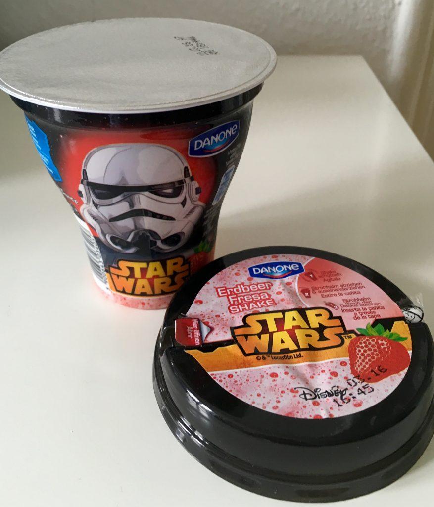 Danone Joghurtgetränk Start Wars Erdbeere Disney