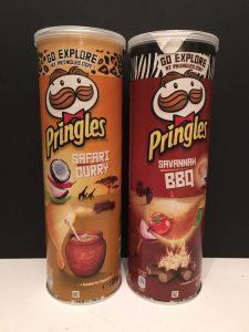 """Pringles Reihe """"Go Explore"""" mit eher exotischen Sorten wie Safari Curry und Savanna BBQ"""