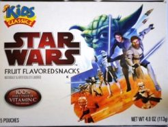 5 Snacks (Riegel?) mit Fruchtgeschmack. Was auch immer das ist... aber mit Star Wars!