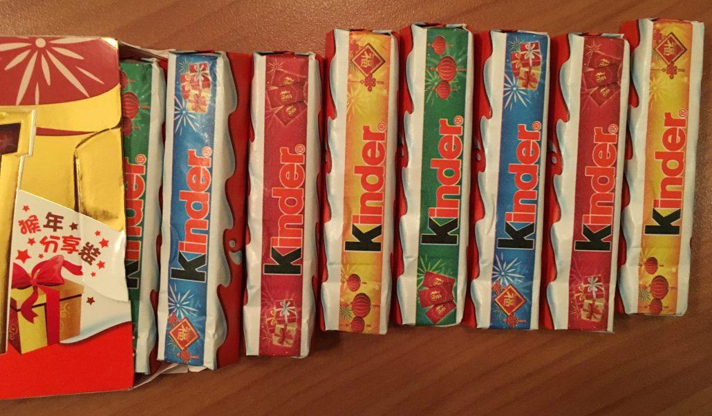 KINDER Schokolade Ferrero Riegel HongKong