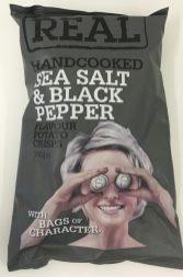 Chipstüte real Frauengesicht