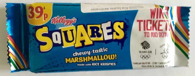 Kellogg's Squares Chewy tasty Marshmallow mit Puffreis