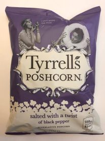 Tyrell's Poshcorn salted with a twist