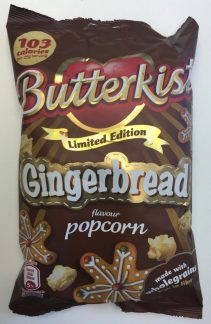 Schmeckt etwas stumpf, leicht nach bitterem Lebkuchen: Butterkost Popcorn Gingerbread