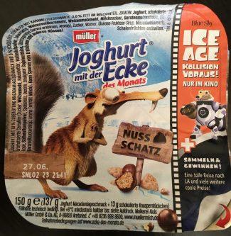Müller Milch Joghurt mit der Ecke IceAge Kinofilm Werbung Lizenz