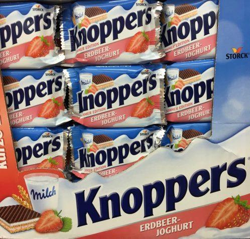 Keks: Knoppers mit Erdbeer-Geschmack.