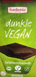 Frankonia Dunkle Vegan-Schokolade